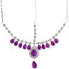Head Jewellery Drop Red Aurora Borealis
